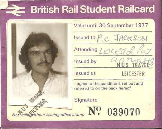 British Rail Student Railcard